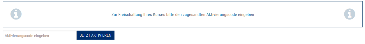 Zugangsdaten Aktivierungscode
